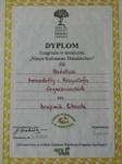Dyplom w konkursie Nasze Kulinarne Dziedzictwo za krupnik litewski